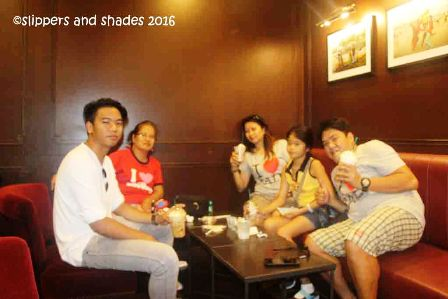 chillin' time inside Starbucks Coffee
