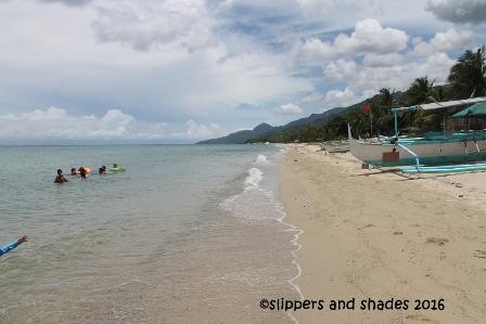 grainy sand makes the water clear... that is in  Laiya in San Juan, Batangas