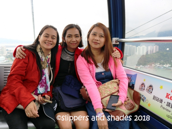 Ms. Glo, Ann and Me... our happy faces during the cable car ride :)