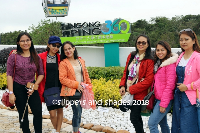 getting ready to explore the Ngong Ping area
