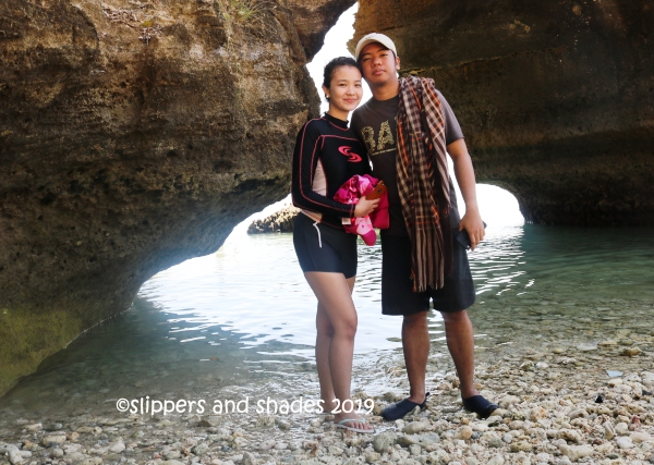 Pao and Coleen with the arch