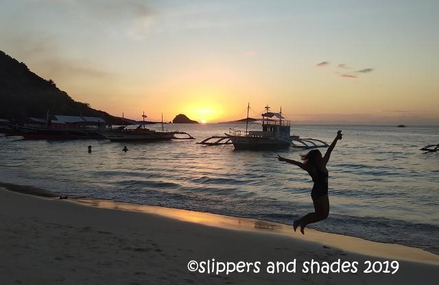 the amazing sunset in Calaguas Island