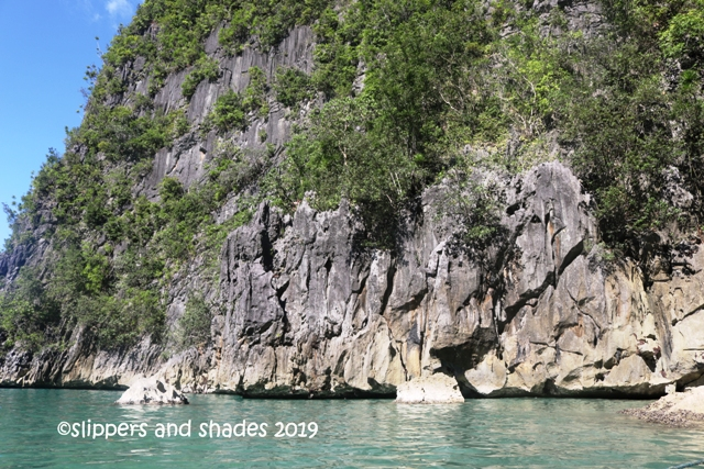 the towering limestone rock formations in Busdak Island