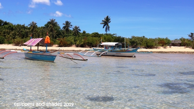 savoring the crystal clear water of Cotivas Island