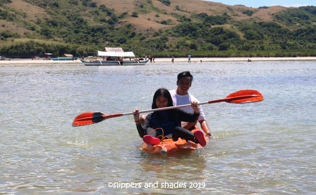 Kuya Pao and Shen paddling together