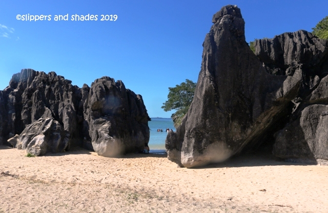 of the stunning limestone rock formations in Sabitang Laya