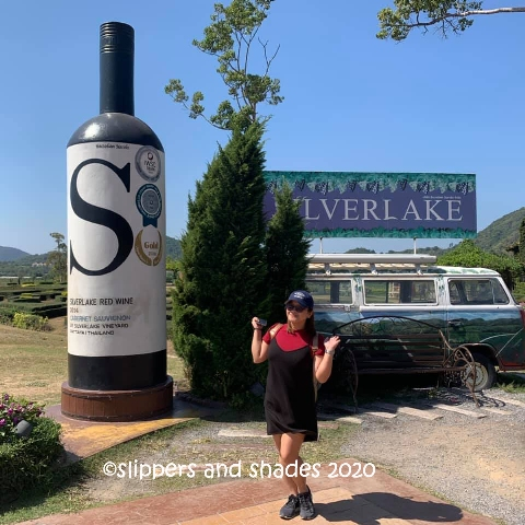 Jhen at the entrance of Silverlake Vineyard