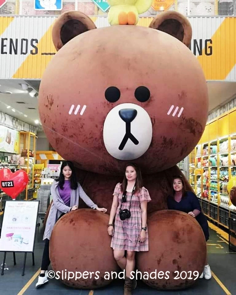 don't forget to visit the Line Friends Store, one of the famous spots in Meongdong