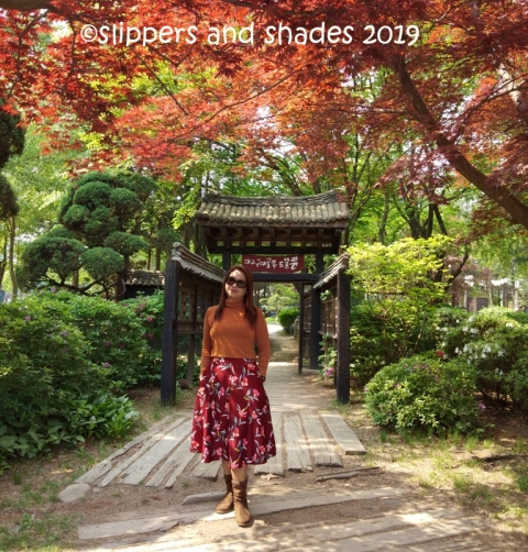 the serenity, the beautiful trees and me in Nami Island