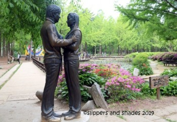 the Winter Sonata statue