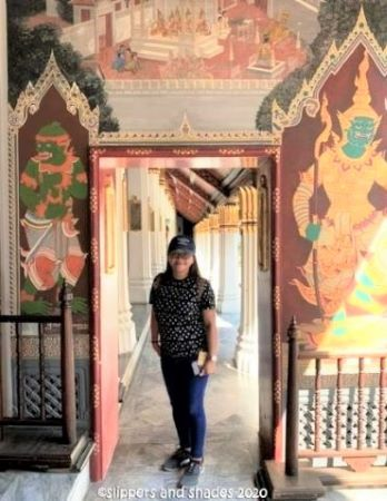 Jhen and the glittering murals in the Emerald Buddha