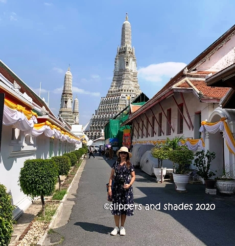on our way to stunning prangs of Wat Arun