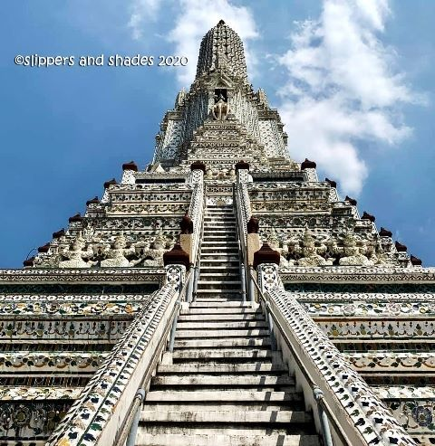 the stunning Prangs of Wat Arun